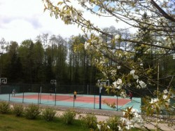 Tennis court, sports field